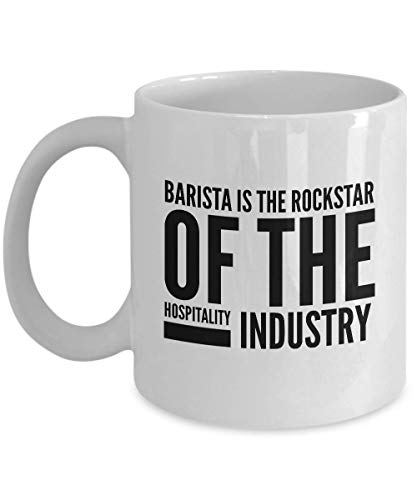 Barista Coffee Mug - Baristas Espresso Expresso Double Tea Cups For Men Women Best Friend Colleague Coworkers Wife Husband Brother Christmas
