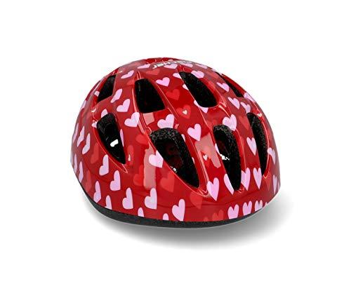 FISCHER Unisex Fahrradhelm Herz Fahrrad Rad Rollerhelm, Herz, S M EU
