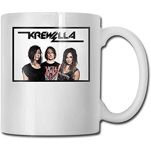 Krewella Team Best Padres Day Ideas de regalo para tazas de café, divertido regalo de Navidad, taza de bebida con personalidad (330 ml)
