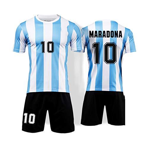 Fußball-Trikot, Gedenkausgabe, Nationalmannschaft, klassischer Retro-Trainingsanzug, Herren-Fußball, kurzärmeliges Oberteil Gr. XL, himmelblau
