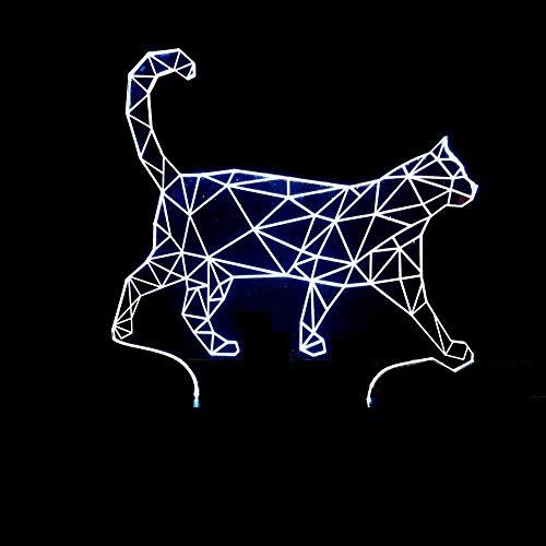 Led Phantom, 3D Vision Licht Led Phantom Licht, Buche Step Cat Massivholz Nachtlicht