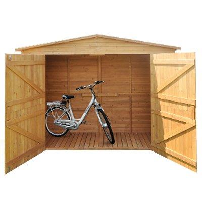 Cobertizo XXL Cobertizo caseta Madera Cobertizos dispositivo Armario madera betún techo madera hogar madera cabaña Jardín Hogar Bicicleta Caseta jardín cobertizo