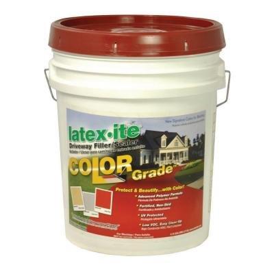 Latex-ite 4.75-Gal. Color Grade Blacktop Driveway Filler/Sealer in Brick Red