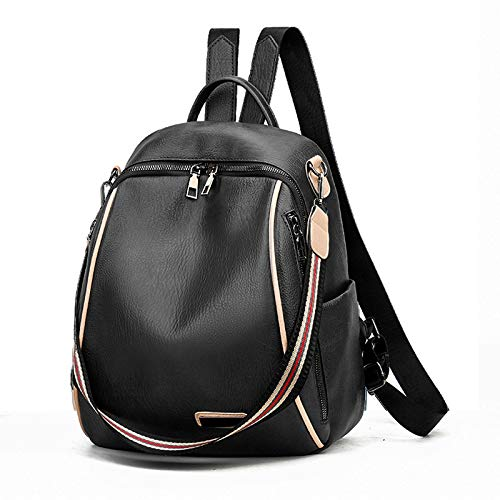 Ladies Backpack PU Leather Fashion Backpack wear-Resistant Outdoor Travel Bag Student School Bag Female