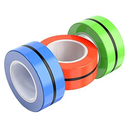 ICEYA Fidget Spinner, Magnetic Ring Stress Relief Toy with Bearing Focus, Finger Spinner Fidget Toy to Relieve ADHD Anxiety for Adults and Children