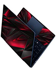 Techfit Red 3D Pattern Full Panel Laptop Skins Upto 15.6 inch - No Residue, Bubble Free - Removable HD Quality Printed Vinyl/Sticker/Cover for Dell-Lenovo-Acer-HP