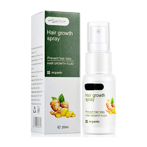 hemao Regrowth Ginger Spray,Nachwachsen Ingwerspray,Verhindert Haarausfall Befeuchtet,Haar Regrowth Ginger Spray Prevent Hair Loss Moisturizes Repairs Hair (20ml 1PCS)