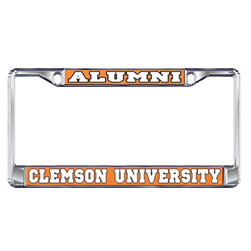 Clemson University Alumni Tigers Silver Metal License Plate Frame