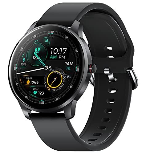 "CUBOT W03 Smartwatch, Reloj Inteligente, 1.28"" pantalla táctil, impermeable IP68, podómetro con monitor de sueño, Ritmo Cardíaco, para Android / iOS. Negro"