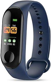 LINGJIA Pulsómetros Braclet Inteligente 0.96in Tft Pantalla Frecuencia Cardíaca Deportes Impermeable Sueño Monitoreo Reloj Azul