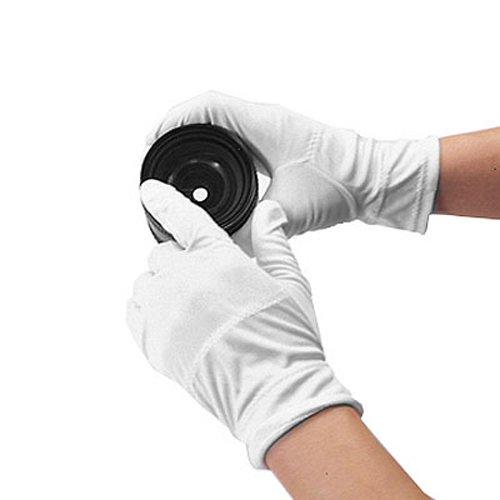 Matin Microfiber Gloves Dust Fingerprint Proof (White) for Lens Optics Jewelry