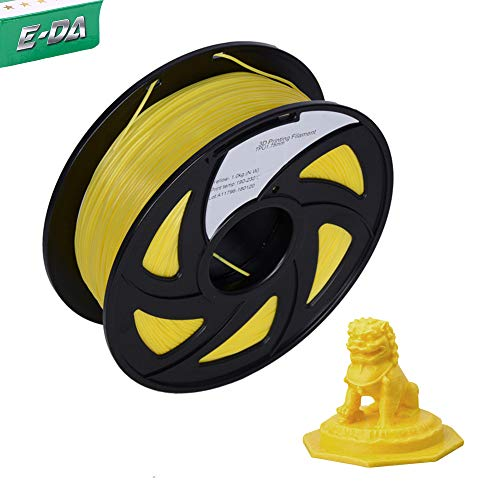 E-DA TPU Filament 1.75mm 1Kg,3D Printer Filament Low Odor Flexible Suitable for Most 3D printers (Yellow)