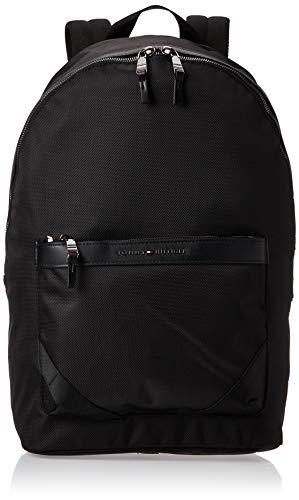 Tommy Hilfiger Herren Elevated Nylon Backpack Münzbörse, Schwarz (Black), 45x31x15cm