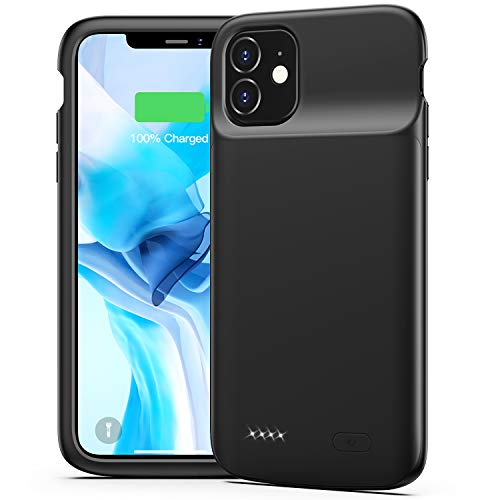 Battery Case for iPhone 11, Swaller 5000mAh Portable Charging Case Rechargeable Extended Battery Pack Charger Case for iPhone 11(6.1 inch) (Black)