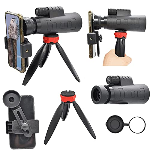 10X Zoom,Monocular Telescope,Spyglass for Bird Watching, Camping, Hiking Traveling Concert Sports Game with Phone Adapter Tripod