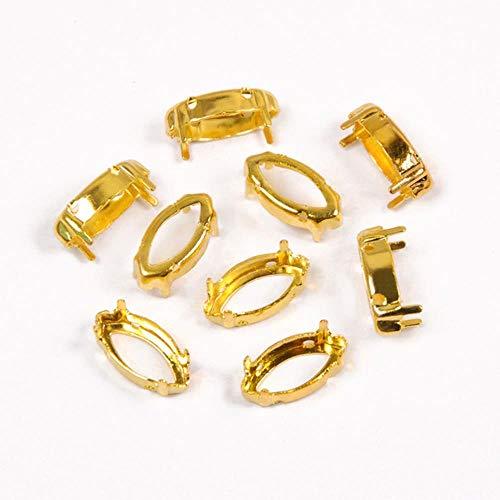 Onderlegger voor Artigli voor navetten basis van koper zilver verguld met strass-steentjes van kristallen sieraden om te knutselen