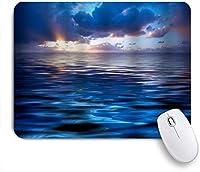 GUVICINIR マウスパッド 個性的 おしゃれ 柔軟 かわいい ゴム製裏面 ゲーミングマウスパッド PC ノートパソコン オフィス用 デスクマット 滑り止め 耐久性が良い おもしろいパターン (海熱帯海事日の出海波カラフルな雲自然アート印刷)