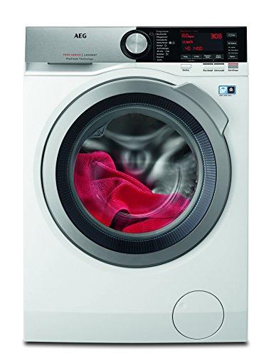 AEG L7FE86404 Waschmaschine Frontlader / sparsamer Waschvollautomat EEK C / 10 kg ProTex-Schontrommel für feinste Textilien / Mengenautomatik / Dampfprogramm/1400 U/min