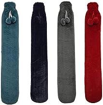 Mode Hand Warmer Extra Lange Warm Water Bottle Bag met Flanel Pocket Cover Hand Voeten Warming Water Vullen Heet Wate zcaq...