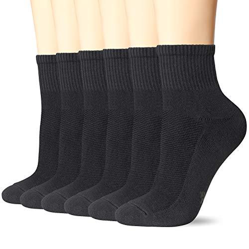 +MD 6 pares de calcetines deportivos Calcetines deportivos unisex Calcetines deportivos transpirables para practicar fitness, tenis, trotar, todos los días BLK M(39-42EU/9-11US)