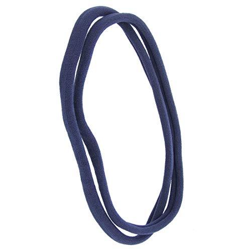 1141 – 002 – Lot 2 pièces bandeaux pour cheveux mixte cm 1 en filanca Made in Italy – Idéales pour sport – Bandeau pour cheveux Lunghezza cm. 10 bleu