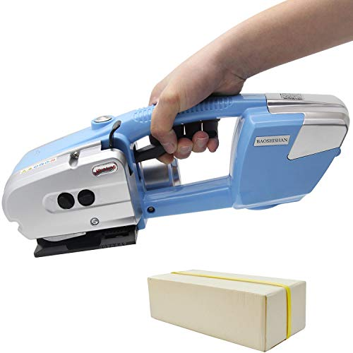 BAOSHISHAN Electric Welding Strapping Machine for 1/2-5/8inch PP/PET Rechargeable Battery Powered Automatic Hot Melting Strapping Banding Tool