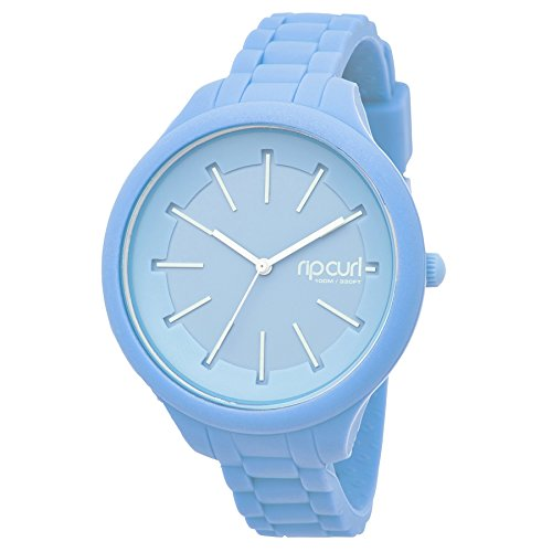 Rip Curl Womens Horizon Silicone Surf Watch Baby Blue. Waterproof - 3 Hand - ABS Case
