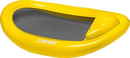 Cressi Floating Mattress Am, Materassino Gonfiabile Mare e Nuoto Unisex – Adulto, Nero/Giallo, 114 x 178 cm