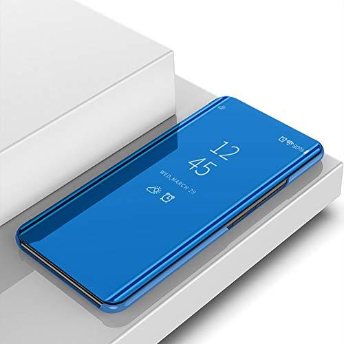 BeyondTop Espejo Funda para Xiaomi Redmi Note 10 Pro MAX Espejo Mirror Flip Caso Inteligente Espejo Funda 360° Protection Carcasas y Fundas para Xiaomi Redmi Note 10 Pro MAX(Azul)