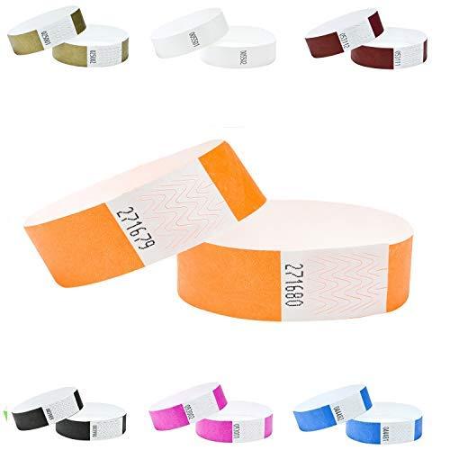 100er Pack Eintrittsbänder, Tyvek, 19mm,Farben wählen