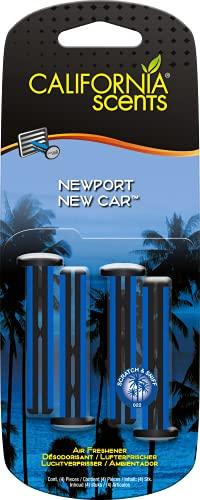 Autocare California Car Scents - Ambientador de Coche con Fragancia, Olor y Esencias a New car, Aroma a Coche nuevo (Bastones de ventilación, 4UDS)