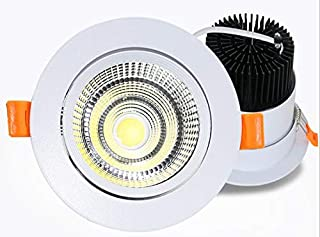 ZEYUN Foco LED empotrable, giratorio, 7 W, con conductor, foco de techo redondo, 595 lm, 3000 K, blanco cálido, foco LED d...