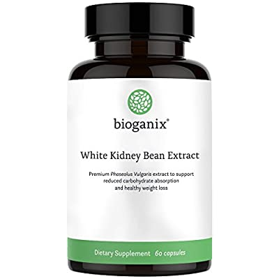 Pure White Kidney Bean Extract 1800mg (200 Capsules) Best Phase 2 Carb and Fat Blocker & Starch Intercept Supplement For Weight Loss