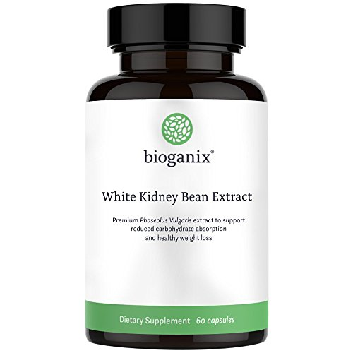 Pure White Kidney Bean Extract 1800mg Serving (60 Capsules) Best Carb and Fat Blocker & Starch Intercept Supplement for Weight Loss