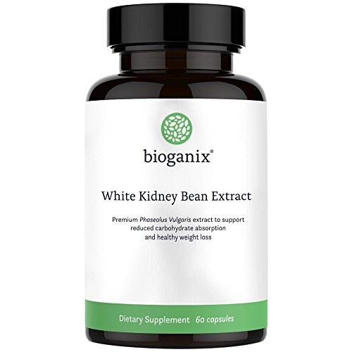 BioGanix Weight Loss Supplement with Pure White Kidney Bean Extract, 1800 mg, 200 Capsules