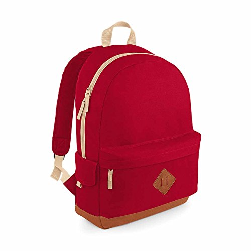 BagBase Heritage Backpack 1er Pack Classic Red