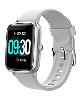 Willful Smart Watch for Android Phones and iOS Phones Compatible iPhone Samsung IP68 Swimming Waterproof Smartwatch Fitness Tracker Fitness Watch Heart Rate Monitor Watches for Men Women  Gray