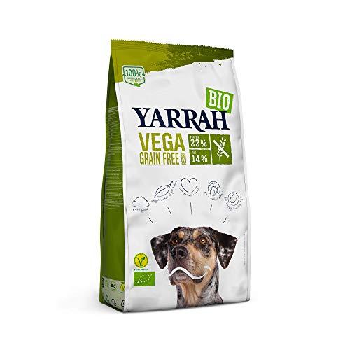 YARRAH Vega Grain-Free cibo secco vegetariano e senza cereali per cani adulti I Squisiti bocconcini biologici con verdure, 2kg I 100% biologico e privo di additivi artificiali