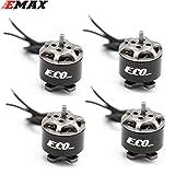 Mylujo 4PCS EMAX ECO 1106 2~3S 4500KV 6000KV CW Brushless Motor for FPV Racing Drone RC Quadcopter Multicopter RC Parts Spare Parts Accs 6000KV 4pcs KSX3829X4