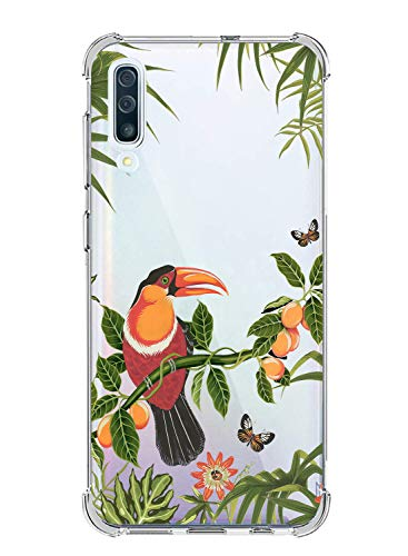 Suhctup Coque Compatible avec Samsung Galaxy S7,Étui Houssee de Transparent Motif Mignon [Antichoc Coussin d'air] Crystal Clear Souple Silicone TPU Bumper Protection de Cover Case,Oiseau 2
