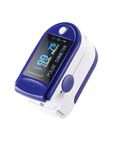 Pulsoximeter, Fingerpulsoximeter BlutsauerstoffSättigung und Herzfrequenz-Monitor, genaue tragbare digitale Lesen LED-Display Spo2 Oximeter mit Lanyard