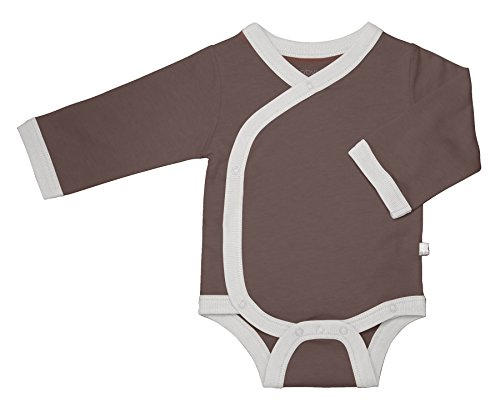 Babysoy Baby Eco Essential Kimono Bodysuit, Seafoam, 0-3 Months