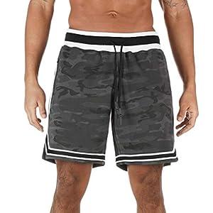 Kurze Freizeithose Herren I Kurze Sweatpants Herren mit Taschen – 2 Seiten- und 1 Gesäßtasche je mit Reißverschluß I Sport Shorts Fussball-Shorts Männer Jungen Sporthose kurz Trainingshose