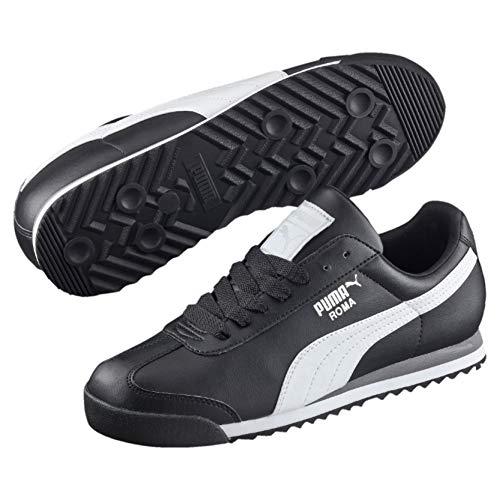 Puma Roma Basic, Herren Sneaker, Mehrfarbig(Schwarz (black-white-puma silver)), 40 EU (6.5 UK)