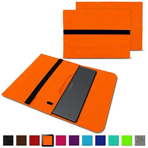 NAUC Medion Akoya E4254 S3409 S4219 E3216 E3215 Tasche Hülle Filz Sleeve Case Schutzhülle Notebook Cover Etui, Farben:Orange