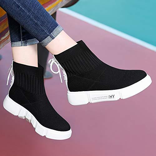 Shukun enkellaarsjes sokken, sokken, laarzen, elastische laarzen, kinderen, herfst en winter, lente en herfst, vrijetijdslaarzen, damesschoenen