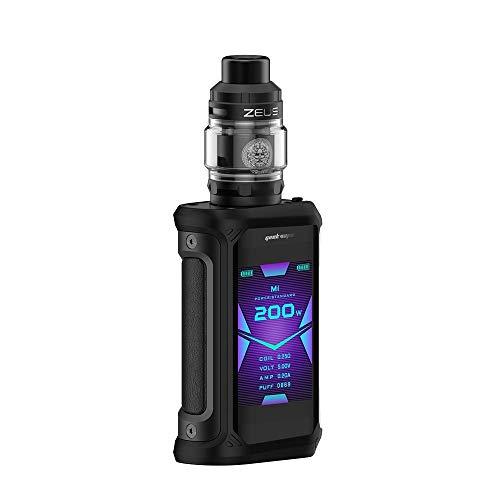 Geekvape Aegis X 200W Kit with Zeus Tank 5ml, Cigarette électronique sans batterie, sans e liquide, sans nicotine (Noir)