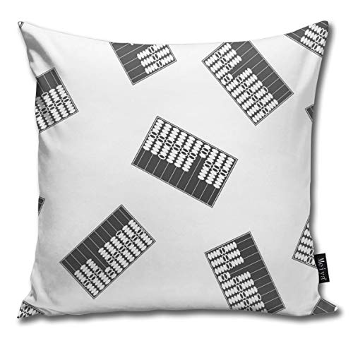 63251vdgxdg Pillowcase Printed Cushion Cover Polyester Home Car Decoration Sofa Cover Icon Hand Scores For Counting Wooden Abacus Super Soft Elegant Reduces Allergy Home Decor 18x18 Inch