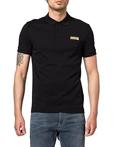 BOSS Paule Flag Camisa de Polo, Negro1, M para Hombre