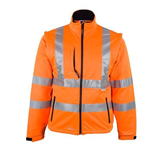 Prevent Warnschutz-Softshell-Jacken 8060O, leuchtorange, Gr. L